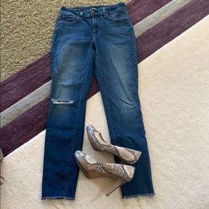 NYDJ Ami Skinny Leggings Raw Hem sz 6